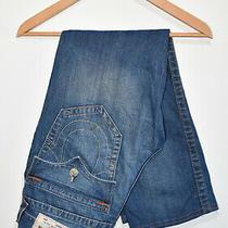 True Religion Jeans Vintage Blue World Tour Size 30 Waist 33