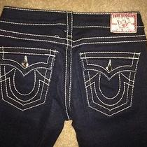 True Religion Jeans With Diamond Buttons  Skinny - Like New Size 27 Photo