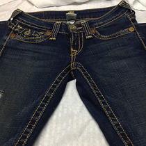 True Religion Jeans Womans Joey Big T Seat 34  Size 25 Photo