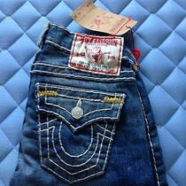 True Religion Jeans Womens Billy Pearl Mica Gold Super T Size 24 Photo
