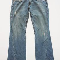 True Religion Joey Jeans Row 32 Seat 33 Distressed Flap Pocket Photo
