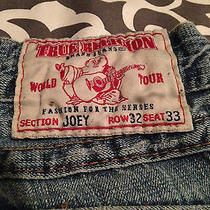 True Religion (Joey) Men's Destroyed Jean 32 X 33 Row 32 Seat 33 Size 32 Photo