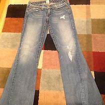 True Religion Joey Row Seat Womens Blue Jeans Size 29 Excellent Cond Photo