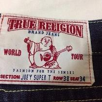 True Religion Joey Super T Men's Jeans Size Row 38 Seat 34 38x34 Photo