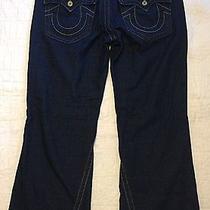 True Religion Joey Twisted Flare Boot Cut Dark Blue Denim Jeans Row 36 Seat 34 Photo