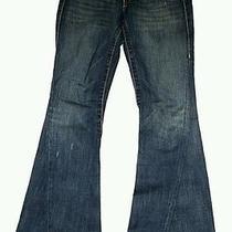 True Religion Johnny Row Seat  Blue Jeans Pants Sz. 27  Photo