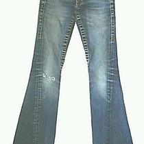 True Religion Johnny Row Seat Women Blue Jeans Pants Sz. 25 Photo