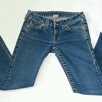 True Religion Johnny Row Seat Women Blue Jeans Pants Sz. 26 Photo