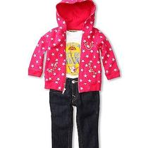 True Religion Kids Girls Baby 3 Piece Gift Box Set New 6-12 Months 199 Pink Photo