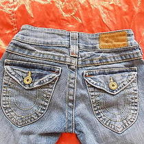 True Religion Leather Tag Boot Cut Flap Pocket Size (24) Usa Made Good Condition Photo