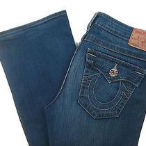 True Religion Maternity Jeans Becky Stretch Bootcut Medium Blue Size 30 Medium Photo