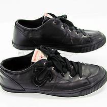 True Religion Men Black Faux Leather Lace Up Fashion Skate Sneaker Shoe 11.5 G5 Photo