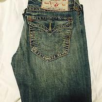 True Religion Men's Jeans Billy Big T Size Row 30 Seat 33 Black Photo