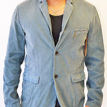 True Religion Mens Blazer in Slate Blue Size Medium - Free Shipping  Photo