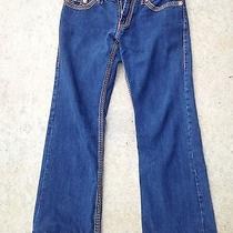 True Religion Mens Jeans Bobby Super T Row 34 Seat 30 100%  Cotton  Made in Usa Photo