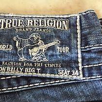 True Religion Mens Jeans Denim Billy Big T 33 - Seat 34 Pants Zipper Fly Photo