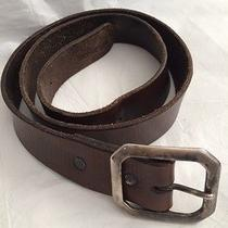 True Religion Mens Leather Belt Brown Sz 34 Vintage Looking. Photo