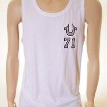 True Religion Mjma204lz0 Men's White College Tank Top Large L Photo