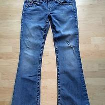 True Religion Painted Pocket Flare Leg Jeans 30 X 32 Photo