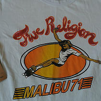 True Religion Retro Malibu '71 Mustached Skate Boarder Tr Logo's T-Shirt M Nwt  Photo