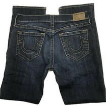 True Religion Ricky Relaxed Straight Men's Size 34x34 Blue Stretch Denim Jeans Photo