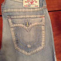 True Religion Ricky Straight Leg Jean 34 Seat  Photo