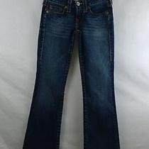 True Religion Section Bobby Row Seat Women's Jeans Boot Cut Cotton 27 X 30 Photo