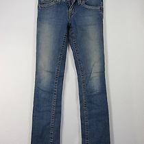 True Religion Section Hi- Rise Boot Seat Jeans Pants Size 25 Blue Photo