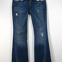 True Religion Section Joey Row Seat 100% Cotton Jeans Size 27 Blue  Photo