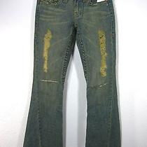 True Religion Section Joey Row Seat 100% Cotton Medium Wash Jeans Size 27 Blue  Photo