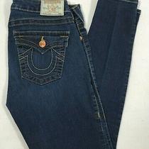 True Religion Serena Skinny Jeans Blue Denim Mid Rise Womens Size 30 Wcjn96bcs Photo