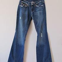 True Religion Twisted Distressed Joey Jeans Sz 28 X 34.5 Photo