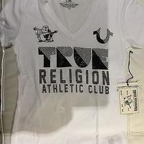 True Religion Women Crystal Graphic T-Shirt Wkwy33ux1 White/black Vnk Nwt Xl 75 Photo
