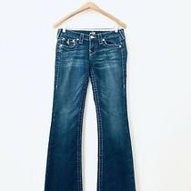 True Religion Women's Becky Skinny Blue Jeans Denim Size 27w X 30l Vgc Flaps Photo