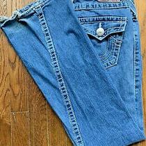 True Religion Women Size 29 Joey Big 7 Denim Blue Jeans Made in Usa Low Cut Photo