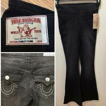 True Religion Womens Black Sz S Body Rinse Starlet Flare Legging Jeans 179 Nwt Photo