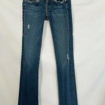 True Religion Womens  Distressed Skinny Jeans Blue Medium Wash Stretch Usa 26 Photo