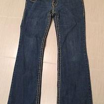 True Religion Womens Jeans Section Billy Super T Row Seat Crystal Button Size 30 Photo
