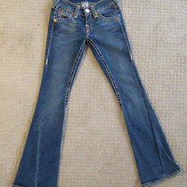 True Religion Womens Juniors 1/25 Jeans Joey Super T Seat 34 Bootcut 27