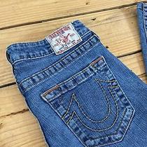 True Religion Womens Size 30 (30 X 30)stevie Jeans Blue Denim Straight Leg Photo