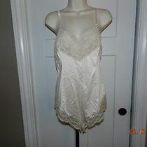True Vintage Lingerie Wonder Maid 36  Snap Crotch Lace Champaigne Ivory Blush Photo