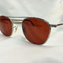 True Vintage Nos American Optical Safety Glasses Metal Aviator Dk Amber Lenses Photo