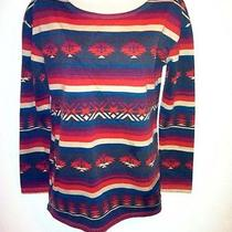 Truly Madly Deeply Urban Outfitters Aztec Southwestern Tunic Sweater Top Small Photo
