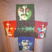 Trunk Ltd. Beatles T Shirt 2xl Moment in Time Heather Gray Designer Squares  Photo