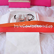 Trusted Hermes Seller Red Orange H Buckle 105 Belt Kit 32mm Strap Set New in Box Photo