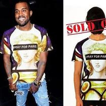 Tshirt Pray for Paris  Size Small El Kanye  Givenchy  Versace  West Style Photo