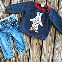 Tucker Tate Gap Boy Clothes 3 Month Christmas Outfit Cashmere Blend Sweater Jean Photo