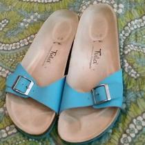 Tula Birkenstock 42 Sz 11 Aqua Sandals Photo