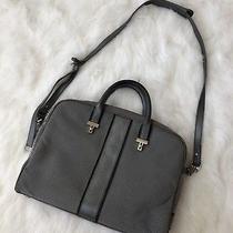 Tumi Briefcase Elements Collection Nylon Leather Handle Zip Laptop Briefcase Photo