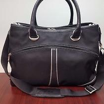Tumi Elements Collection Black Briefcase Purse Laptop Tablet Handbag W/ Strap Photo